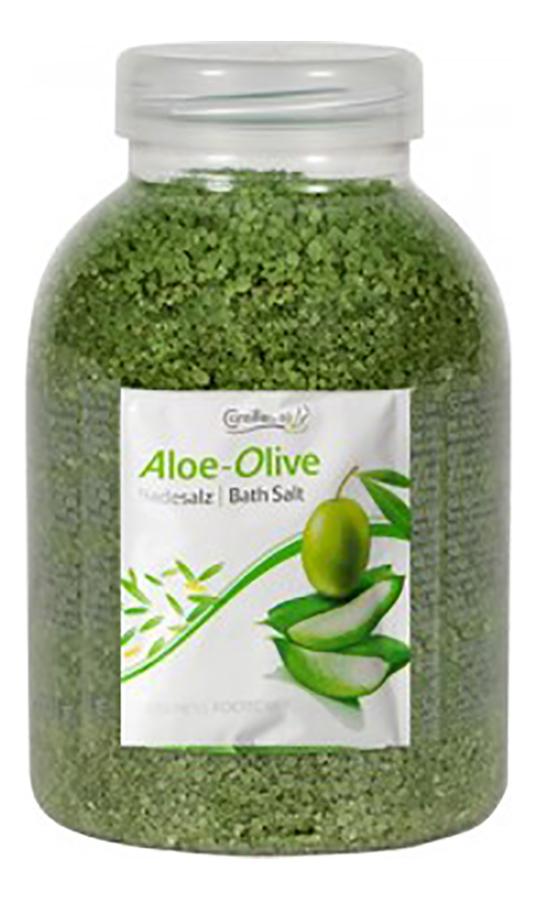 Соль для ножных ванн Алоэ вера и олива Wellness FootCare Badesalz Aloe Vera & Olive: Соль 1350г соль для ножных ванн расслабляющая киви и мелисса badesalz kiwi melisse соль 1350г
