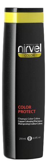 Фото - Оттеночный шампунь для поддержания цвета Color Protect Shampoo 250мл: Copper оттеночный шампунь для поддержания цвета color protect shampoo 250мл copper