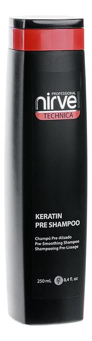 Кератиновый шампунь перед выпрямлением или восстановлением волос Technica Keratin Pre Shampoo No1: Шампунь 250мл nirvel professional шампунь keratin