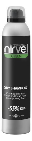 Сухой шампунь для волос Green Dry Shampoo 300мл тонирующий спрей для волос green dry color 300мл light chestnut
