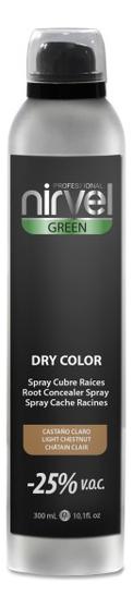 Тонирующий спрей для волос Green Dry Color 300мл: Light Chestnut тонирующий спрей для волос green dry color 300мл light chestnut