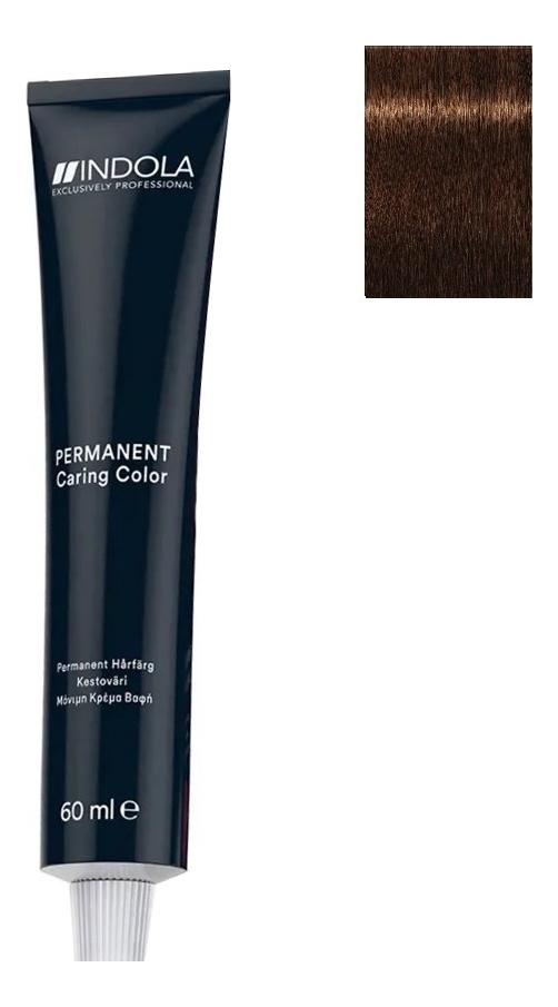 Купить Стойкая крем-краска для волос Permanent Caring Color 60мл: 4.35 Средний коричневый золотистый махагон, Indola