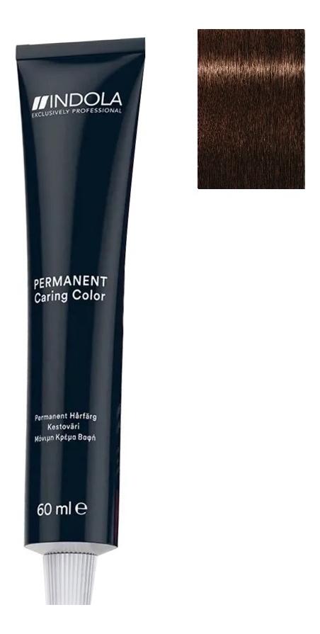 Стойкая крем-краска для волос Permanent Caring Color 60мл: 4.80 Средний коричневый шоколадный натуральный крем краска для волос indola color red