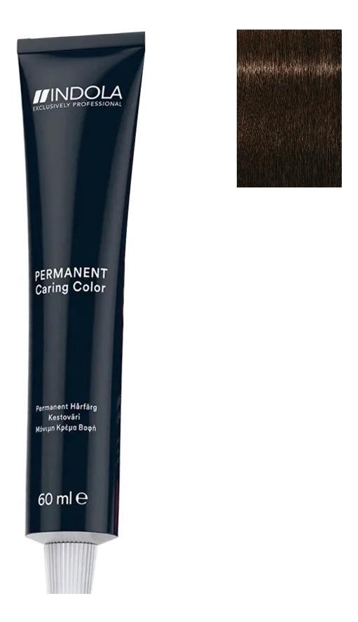 Стойкая крем-краска для волос Permanent Caring Color 60мл: 5.00 Светлый коричневый интенсивный натуральный крем краска для волос indola color red