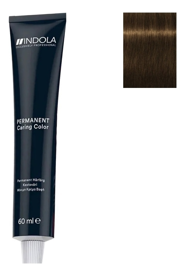 Стойкая крем-краска для волос Permanent Caring Color 60мл: 5.03 Светлый коричневый натуральный золотистый стойкая крем краска для волос permanent caring color 60мл 5 35 светлый коричневый золотистый махагон