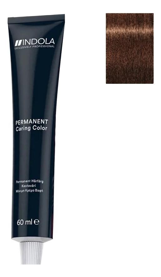 Купить Стойкая крем-краска для волос Permanent Caring Color 60мл: 5.35 Светлый коричневый золотистый махагон, Indola