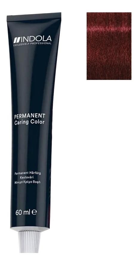 Стойкая крем-краска для волос Permanent Caring Color 60мл: 5.66x Светлый коричневый красный экстра стойкая крем краска для волос permanent caring color 60мл 5 35 светлый коричневый золотистый махагон