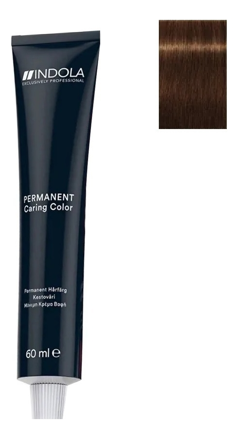 Стойкая крем-краска для волос Permanent Caring Color 60мл: 6.35 Темный русый золотистый махагон стойкая крем краска для волос permanent caring color 60мл 5 35 светлый коричневый золотистый махагон