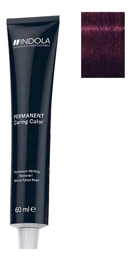 Купить Стойкая крем-краска для волос Permanent Caring Color 60мл: 6.77x Темный русый фиолетовый экстра, Indola