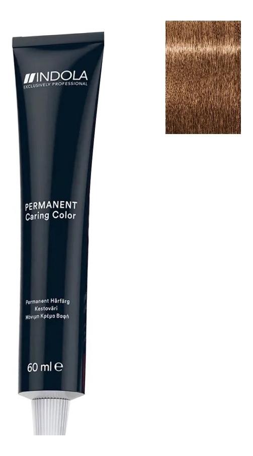 Купить Стойкая крем-краска для волос Permanent Caring Color 60мл: 7.30 Средний русый золотистый натуральный, Indola
