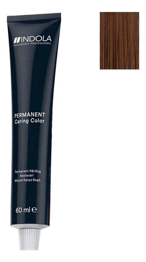 Купить Стойкая крем-краска для волос Permanent Caring Color 60мл: 7.35 Средний русый золотистый махагон, Indola
