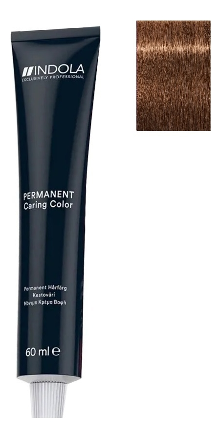 Стойкая крем-краска для волос Permanent Caring Color 60мл: 7.82 Средний русый шоколадный перламутровый крем краска для волос indola color red