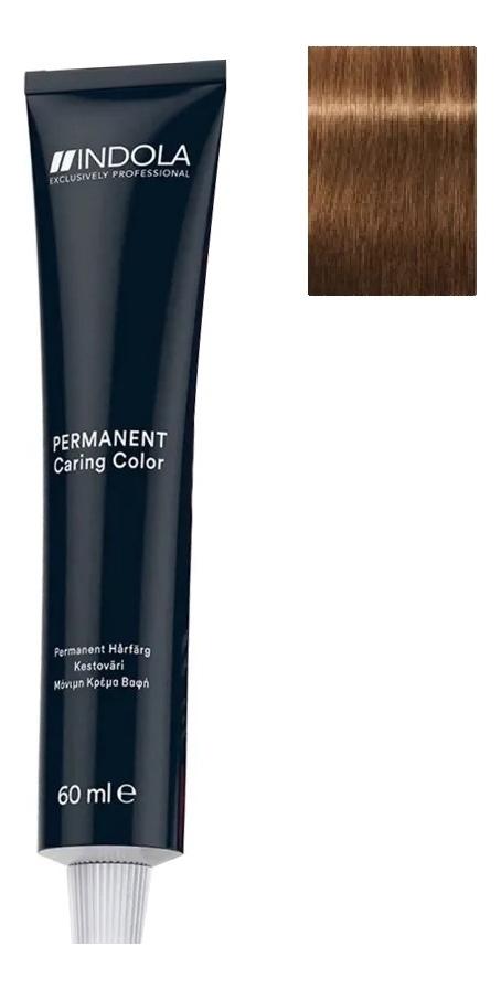 Стойкая крем-краска для волос Permanent Caring Color 60мл: 7.83 Средний русый шоколадный золотистый крем краска для волос indola color red