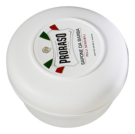 Мыло для бритья Зеленый чай и овес Sapone Pelli Sensibili Anti-Irritazione 150мл