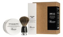 Baxter of California Набор для бритья Shave 1.2.3 (крем 240мл + бальзам 120мл + помазок)