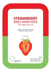 Маска для лица с экстрактом клубники Strawberry Daily Mask: Маска 1шт фото
