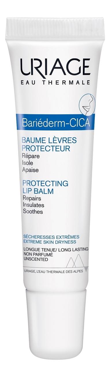 Купить Восстанавливающий бальзам для губ Bariederm Cica-Levres Baume Reparateur: Бальзам 15мл, Uriage