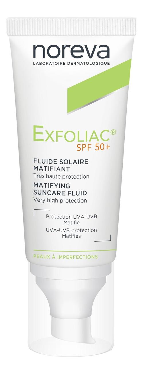 Матирующая солнцезащитная эмульсия для лица Exfoliac Matifying Suncare Fluid SPF50+ 40мл матирующая солнцезащитная эмульсия для лица exfoliac matifying suncare fluid spf50 40мл