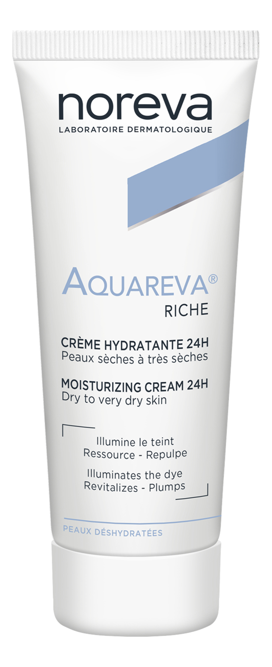 Увлажняющий крем для сухой кожи лица Aquareva 24H Moisturising Cream Rich Textured 40мл насыщенный увлажняющий крем для лица hydralba uv rich hydrating cream spf20 40мл