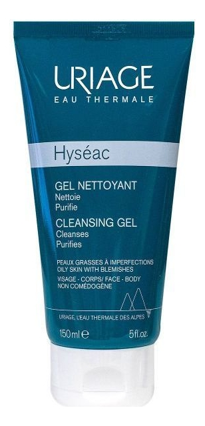 Мягкий очищающий гель для лица Hyseac Gel Nettoyant 150мл: Гель 150мл uriage hyseac gel