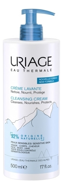 Очищающий пенящийся крем Eau Thermale Creme Lavante: Крем 500мл