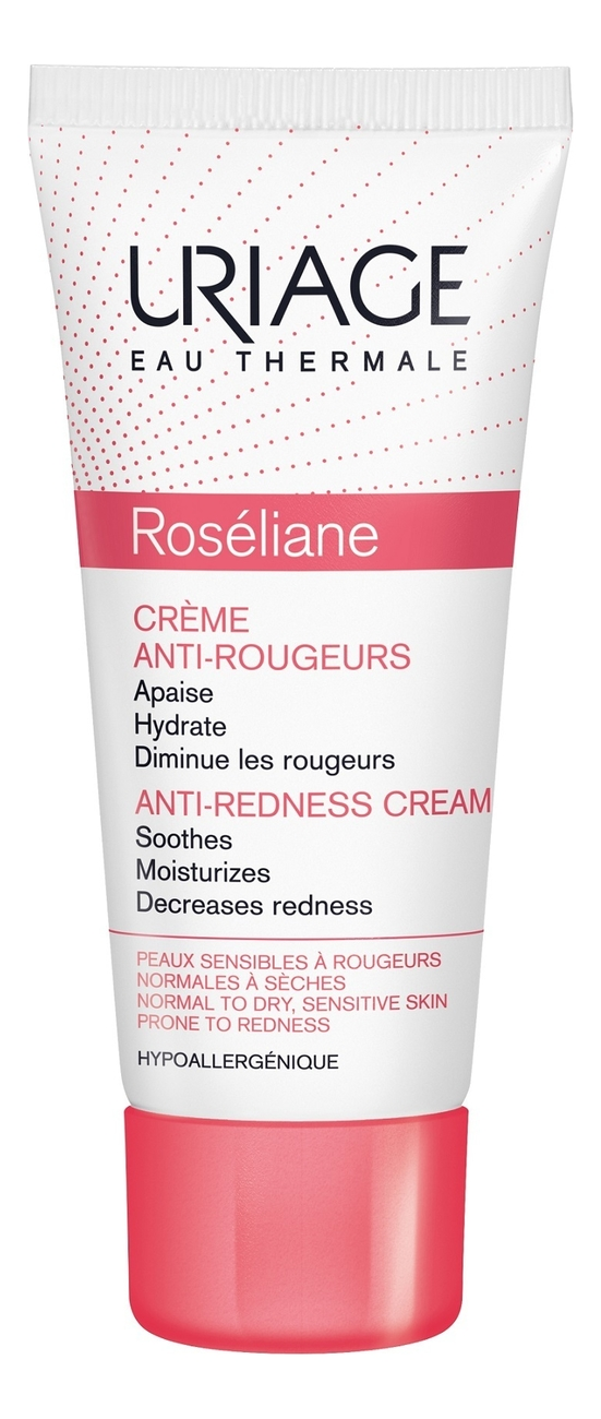 Купить Крем для лица против покраснений Roseliane Creme Anti-Rougeurs 40мл, Uriage