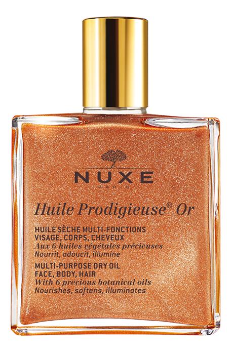 Золотое масло для лица, тела и волос Huile Продижьез Or Multi-Purpose Dry Oil: Масло 100мл масло nuxe отзывы