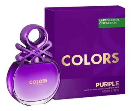 Benetton Colours Purple: туалетная вода 50мл benetton colours purple дезодорант 150мл