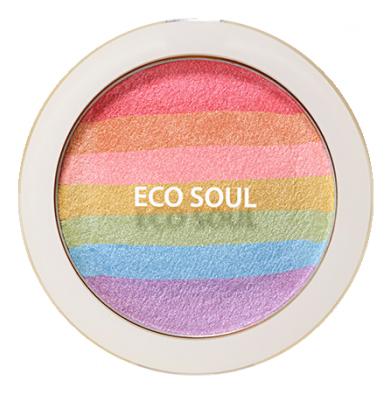 Румяна-хайлайтер компактные Eco Soul Prism Blusher 8г