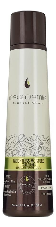 Увлажняющий кондиционер для волос Professional Weightless Moisture Conditioner: Кондиционер 100мл macadamia macadamia кондиционер увлажняющий для тонких волос 300 мл