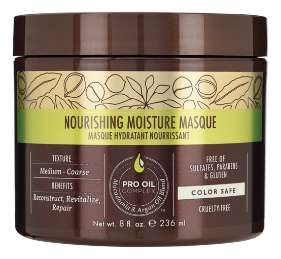 Купить Питательная маска для волос с маслом арганы и макадамии Professional Nourishing Moisture Masque: Маска 236мл, Macadamia