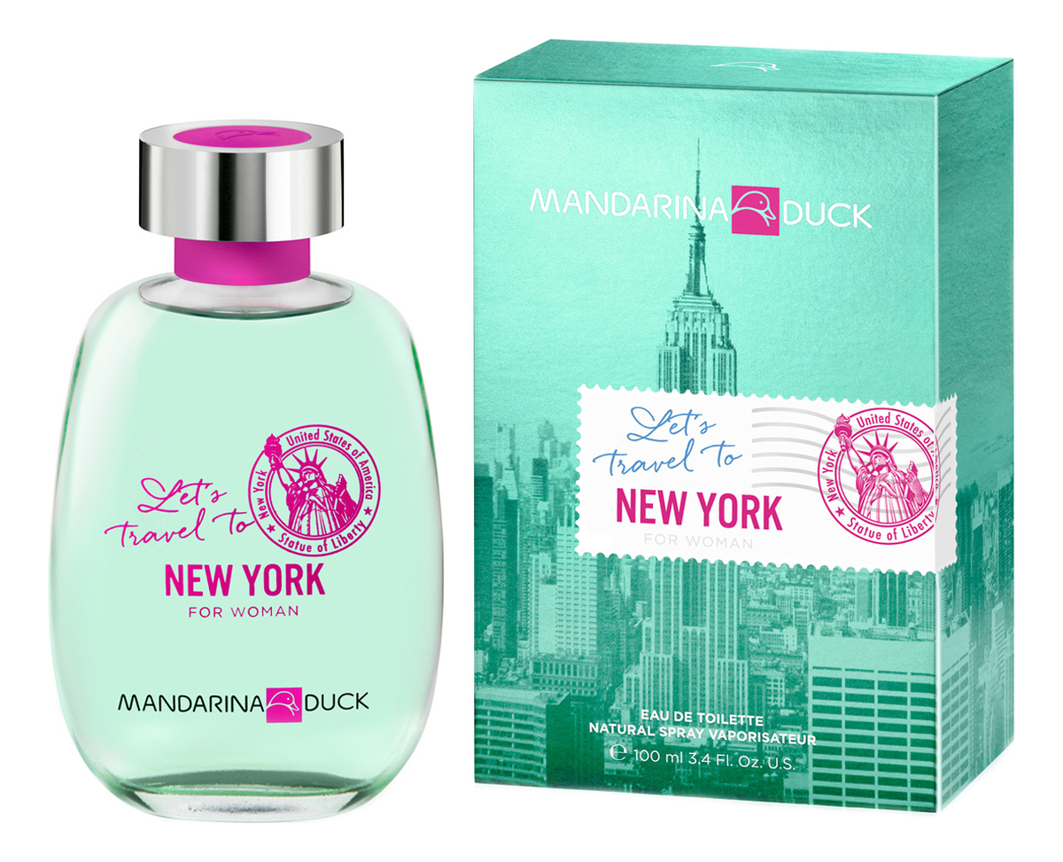 Mandarina Duck Let`s Travel To New York For Woman: туалетная вода 100мл
