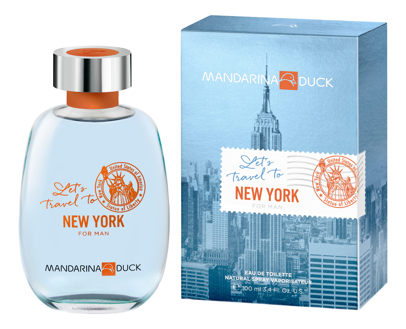 Mandarina Duck Let`s Travel To New York For Man: туалетная вода 100мл