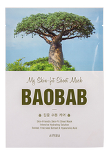 A'PIEU Тканевая маска с экстрактом баобаба My Skin-Fit Sheet Mask Baobab 25мл