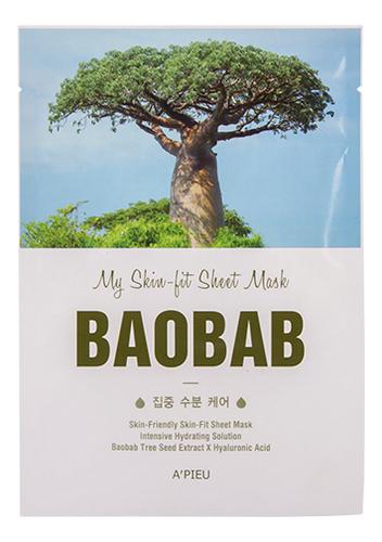 Тканевая маска с экстрактом баобаба My Skin-Fit Sheet Mask Baobab 25мл тканевая маска для лица с экстрактом баобаба bergamo baobab aqua mask pack 28ml