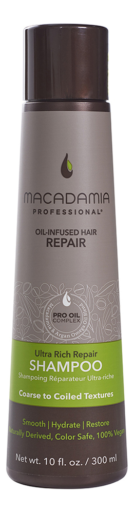 Увлажняющий шампунь для жестких волос Professional Ultra Rich Moisture Shampoo: Шампунь 300мл шампунь reveur rich repair
