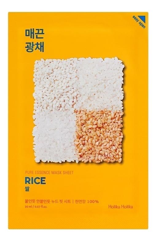 Купить Успокаивающая тканевая маска для лица с экстрактом риса Pure Essence Mask Sheet Rice 20мл: Маска 1шт, Holika Holika