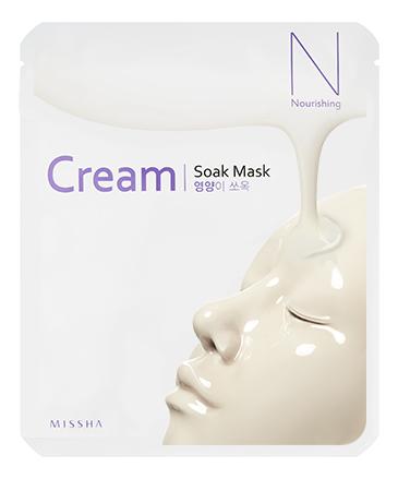 Купить Питательная тканевая маска на основе сквалана и пептидного комплекса Cream Soak Mask Nourishing 25мл, Missha
