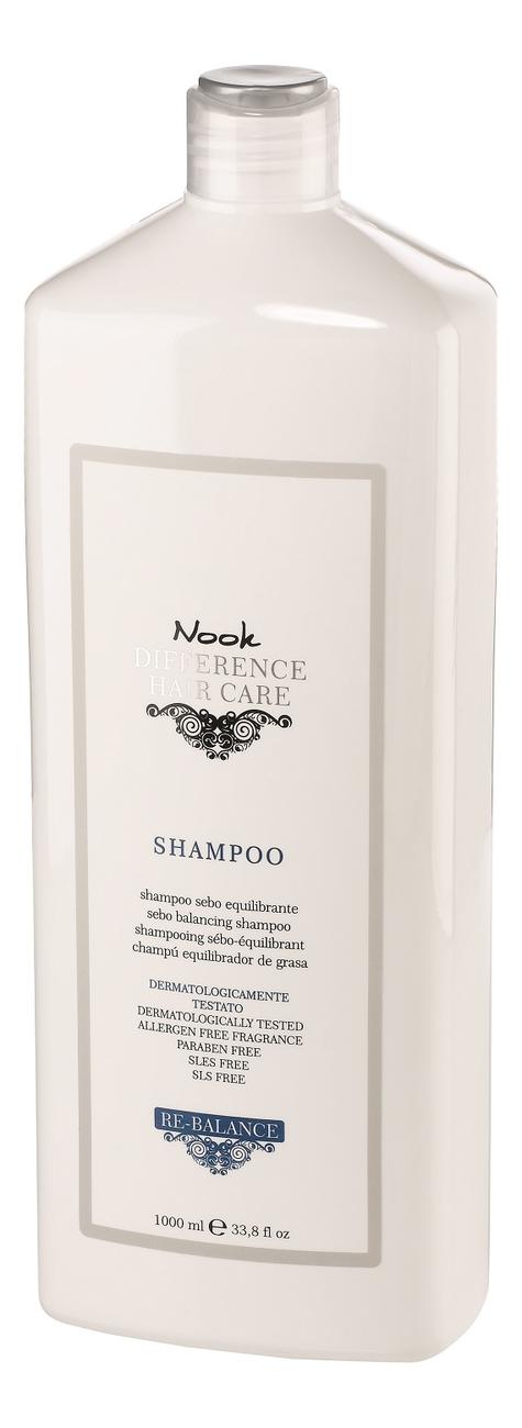 Шампунь для жирной кожи головы Ph 5,0 Difference Hair Care Sebo-Balancing Shampoo: Шампунь 1000мл