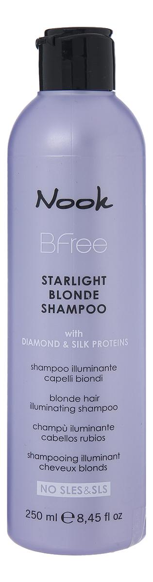 Сияющий шампунь для волос цвета Блонд BFree Starlight Blonde Shampoo: Шампунь 250мл недорого
