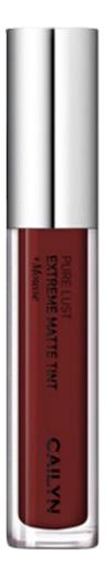 Матовый тинт для губ Pure Lust Extreme Matte Tint + Mousse 3,5мл: 78 Vanity матовый тинт для губ pure lust extreme matte tint mousse 3 5мл 76 maturity