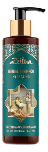Увлажняющий фито-шампунь для сухих, жестких и кудрявых волос со льном и сокотрийским алоэ Herbal Shampoo Deep Restoration 200мл фото