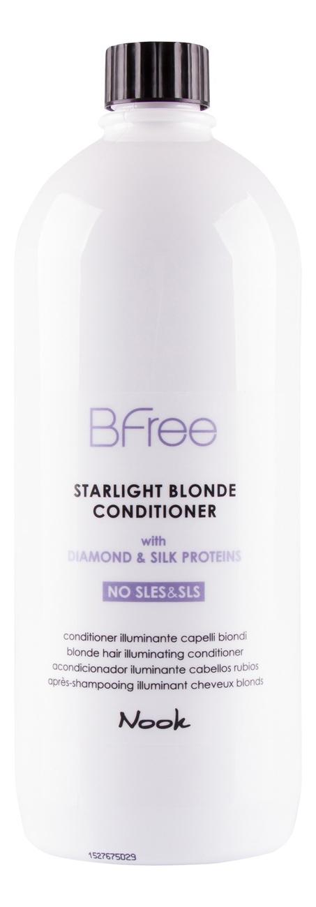 Кондиционер для волос цвета Блонд BFree Starlight Blonde Conditioner: Кондиционер для волос 1000мл кондиционер для светлых и седых волос ds blonde conditioner кондиционер 1000мл