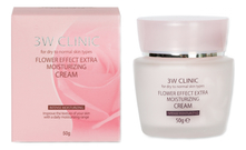 3W CLINIC Крем для лица Flower Effect Extra Moisturizing Cream 50г
