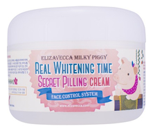 Elizavecca Осветляющий крем-пилинг для лица Milky Piggy Real Whitening Time Secret Pilling Cream 100г