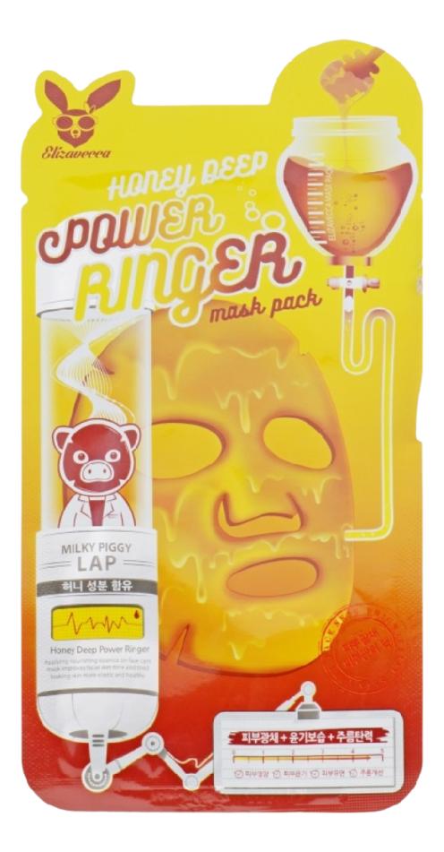 Купить Тканевая маска для лица с экстрактом меда Deep Power Ringer Mask Pack: Маска 23мл, Elizavecca
