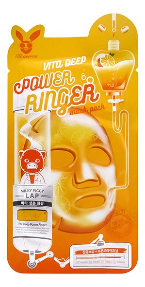Купить Тканевая маска для лица с витаминами Vita Deep Power Ringer Mask Pack: Маска 23мл, Elizavecca