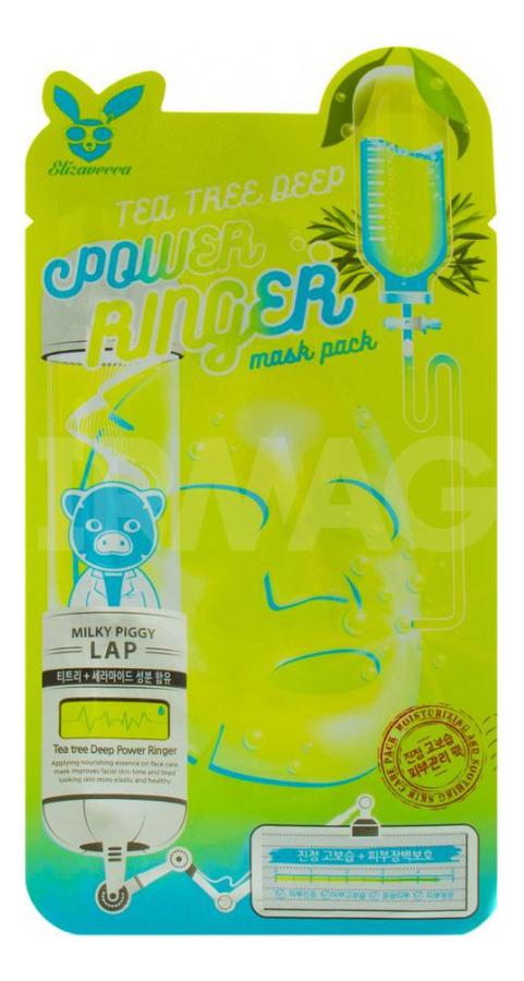 Купить Тканевая маска для лица с экстрактом чайного дерева Tea Tree Deep Power Ringer Mask Pack: Маска 23мл, Elizavecca