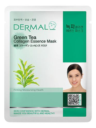 Тканевая маска для лица Green Tea Collagen Essence Mask 23г (зеленый чай и коллаген) lipton ice tea зеленый холодный чай 1 л