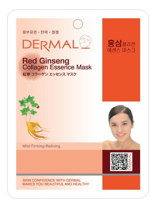 Тканевая маска для лица Red Ginseng Collagen Essence Mask 23г (красный женьшень и коллаген) фото